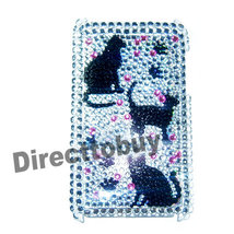 BLING CAT SHELL BACK COVER CASE for iPod Touch 3G 3rd - $6.49