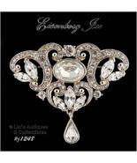 Signed Eisenberg Ice Clear Rhinestone Pin Wedding Brooch (Inventory #J1248) - $100.00