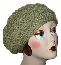 Sage Green Hat, Sage Green Beret, Sage Beret, Sage Hat - $29.00