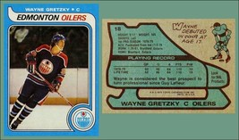 LOT of 25 REPRINT 1979 Topps #18 WAYNE GRETZKY Rookie Card HOF Canadian - $9.50
