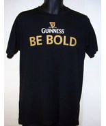 Guinness Irish Beer Tee Shirt Be Bold Black Gol... - $12.97
