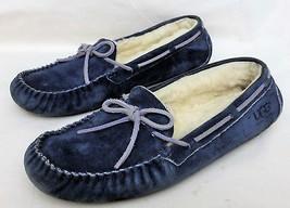 UGG Australia Comfort Flats Sheepskin inside Size -10 Navy Leather/Suede - $24.95