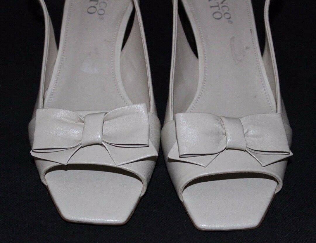 Franco Sarto Legacy Mujer Tacones Zapatos con Empeine de Piel Beis Talla 6M image 4