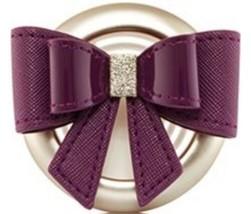 Bath & Body Works Burgundy Bow Tie Scentportable Car Air Freshener Vent ... - $7.62