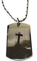Christian Jesus Christ Cross Philippians 4:6-7 Pendant Double Sided Logo... - $33.65