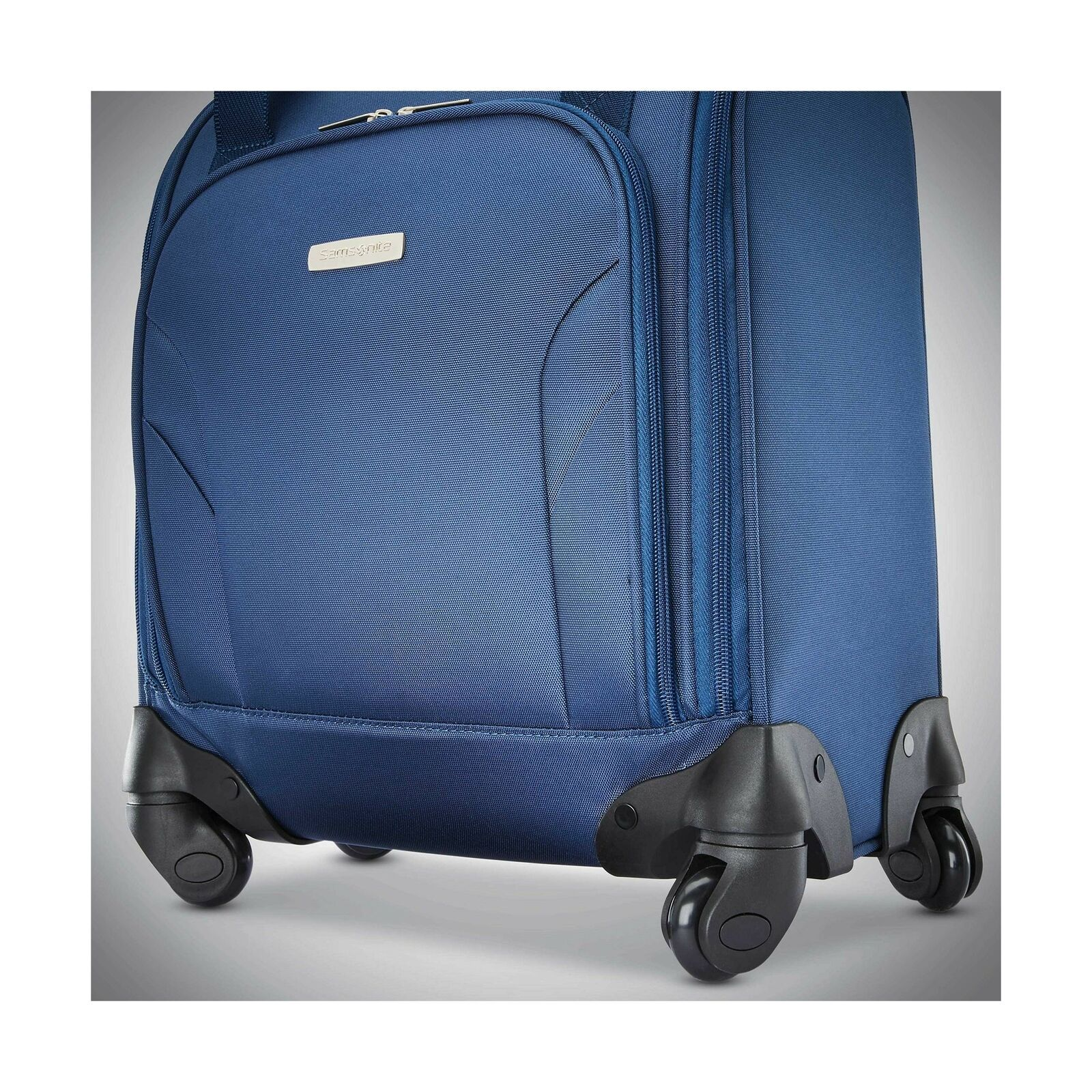 Samsonite Underseat Spinner with USB Port Ocean Travel Luggage Rolling Suitcase
