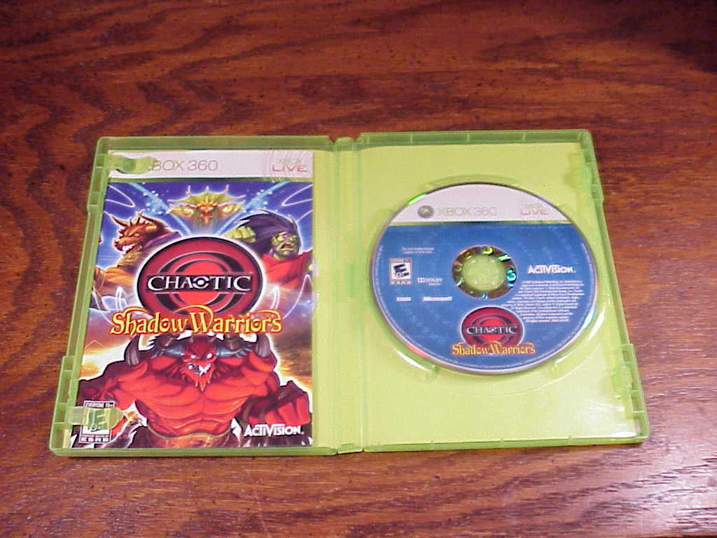 Xbox 360 Chaotic Shadow Warriors Game, Xbox Live, with instructions, nice shape