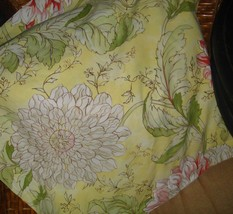 Pottery Barn Pale Yellow Floral Euro Pillow Sha... - $29.97