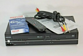 Toshiba DVD/VCR Combo  With Remote Cables Tape Manual SD-V296KU - $64.30