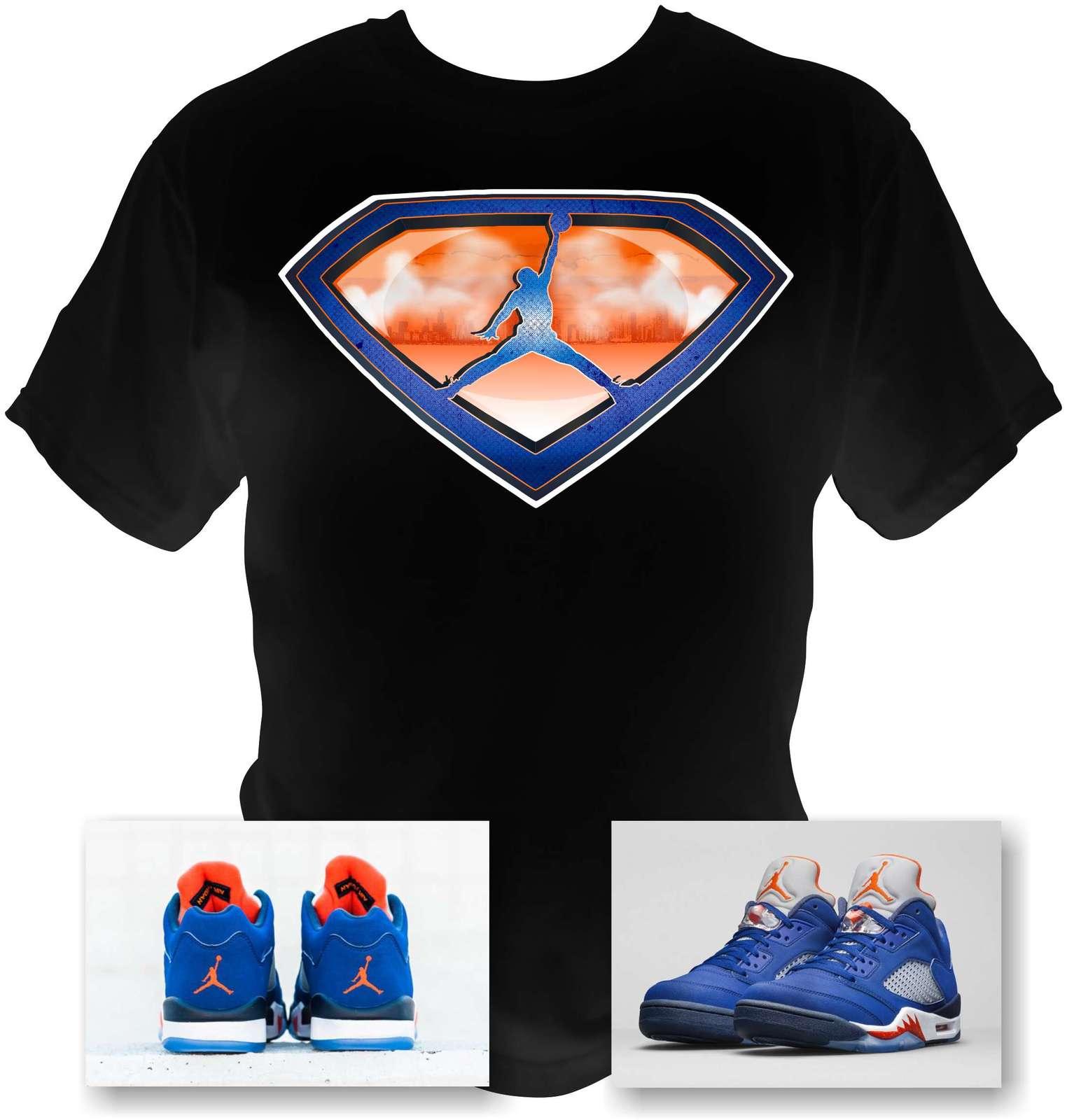 817c06994f7 Air Jordan 5 Low Knicks black T-Shirt and 50 similar items