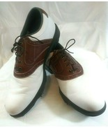 Foot Joy Mens 10 M Dry Joys brown and White Golf Shoes - $39.57
