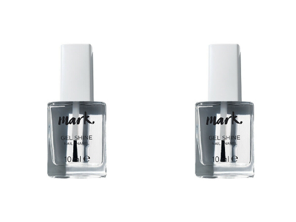 Primary image for 2 x AVON Mark Gel Shine Top Coat 2 x 10 ml New, Boxed