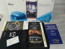 Owners Manual Set With Case 2008 Mazda 3 15457 - $29.69