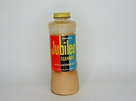 """Vintage Jubilee Wax Cleaner Johnson's glass jar w/ contents 7.5"""" tall   ... - $19.79"""