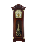 Bedford Clock Collection 33 Inch Chiming Pendulum Wall Clock in Antique ... - $141.93