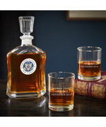 US Air Force Personalized Argos Decanter and Eastham Glasses - $69.95