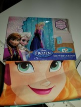 New Disney Frozen Elsa and Anna Fabric Shower Curtain 70 in X 72 in - $16.99