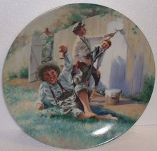 """Tom Sawyer Series; """"Whitewashing The Fence"""" Knowles Collector Plate by William C - $21.78"""