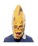 Angry Corn Halloween Mask Creepy Humoristic Funny Good Elasticity Horror... - $17.99