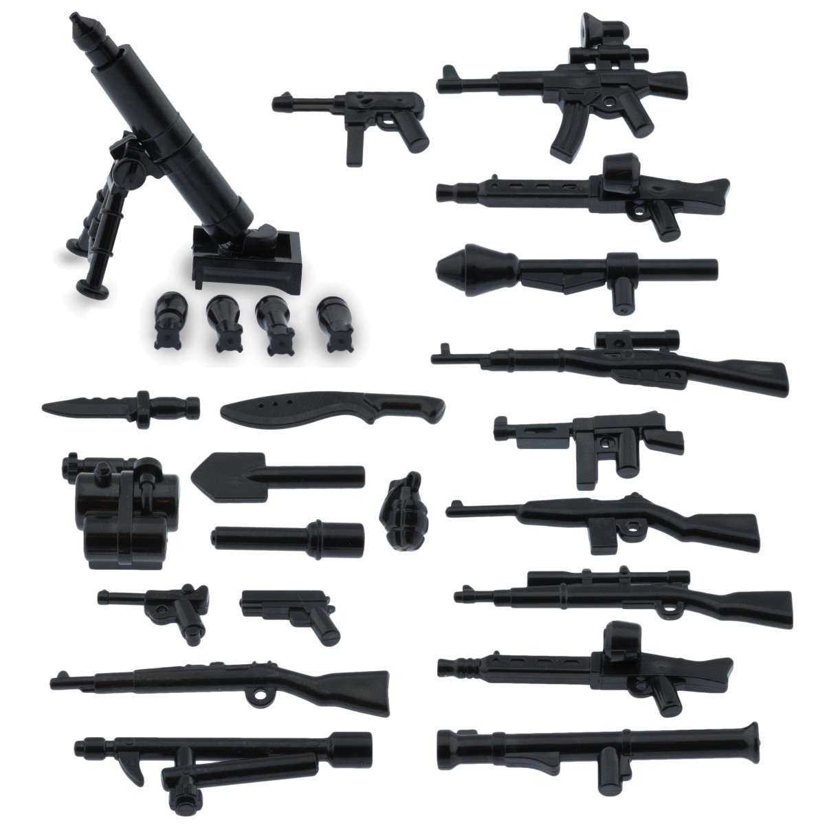 Custom army military guns weapons pack for lego minifigures minifig accessories a weapons pack