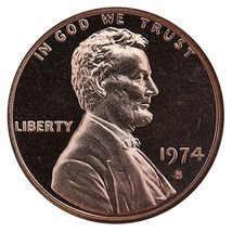 1974-S Lincoln Memorial Cent Penny Gem Proof US Mint Coin Uncirculated UNC - $7.99