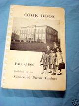 Sunderland Massachusetts 1966 Parent Teachers Cook Book - $12.99