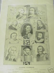 1894 Illustrated Page Colonial Governors - $7.99