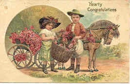 Hearty Congratulations Paul Finkenrath Vintage Post Card - $8.00