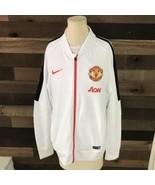 Nike Manchester United Soft Full Zip Track Jacket Mens Large AON - $32.73