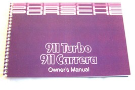 1989 Porsche 911 Carrera Owners Manual Parts Service 911 Turbo factory r... - $97.01