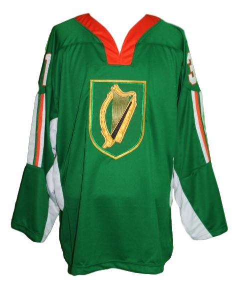 Bailey  31 custom team ireland retro hockey jersey green   1