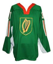 Custom Name # Team Ireland Retro Hockey Jersey New Green Bailey #31 Any Size image 1
