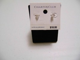Charter Club Silver-tone Cubic Zirconia Small Stud Earrings K425 - $8.63