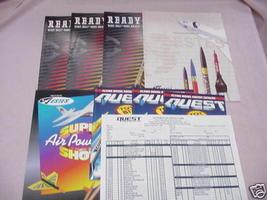 3 Estes RTF 1997 Rocket Flyers 1 1995 New Product Flyer - $19.99
