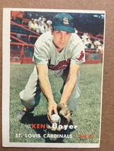 1957 Topps #122 Ken Boyer Baseball Card ST. Louis Cardinals EX Condition... - $6.99