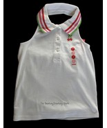 NWT Gymboree Cherry Baby White Halter Polo Top Size 7 - $12.59