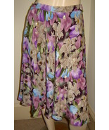ANNE CRIMMINS for UMI COLLECTIONS Shimmering Purple Floral Full Silk Ski... - $39.10