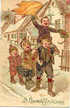 A Happy Christmas Paul Finkenrath of Berlin 1908 Post Card - $8.00