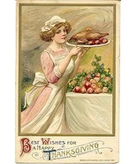Thanksgiving Wishes Samuel Schmucker 1911 Vintage Post Card - $15.00
