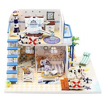 ROOMLIFE DIY Mini Dollhouse Kit Sea-View Room Nautical Enthusiast ,Husband Chris
