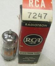 1 NOS RCA 7247 -12DW7 Tube Audio Class A Pre-Amp Tested TV-10B Gm=>950 &1300 - $26.48