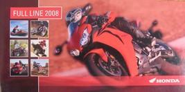 2008 Honda Full Line Motorcycle Brochure Touring Gold Wing Shadow Nighthawk ATV - $10.40