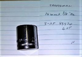 """Craftsman  16 mm x 3/8"""" Dr Socket  6 Point S-AF 43570   NEW - $13.09 CAD"""