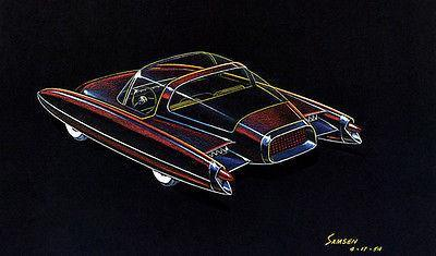 Primary image for 1954 Ford D523 Concept Car - Promotional Advertising Poster
