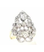 14k Gold Diamond Estate Art Deco Cocktail Ring 4.00CT  Handmade   #30343 - $2,969.01