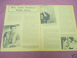 1958 Teddy Randazzo 3 Page Magazine Article - $7.99