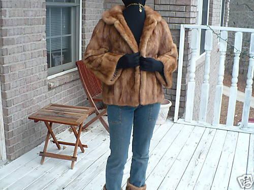 Cropped blonde hue Mink Fur coat jacket bolero