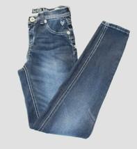 Justice GIirls Jeans Sz 14 Stretch Denim Jeggin Skinny Blue Jeans Casual... - $21.55