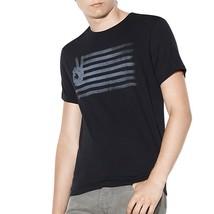 John Varvatos Star USA Men's Peace Sign Flag Graphic Crew Tee Shirt Blac... - $1.041,68 MXN