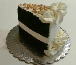 Fake Piece of Cake Slice Prop Decoration  Vanilla Chocolate Drizzle - $15.83